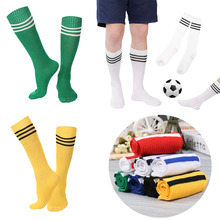 1Pair Baseball Over Knee Socks Men Women Striped Cotton Knee Stockings Hot Sale 8 Colors for your choose(China)