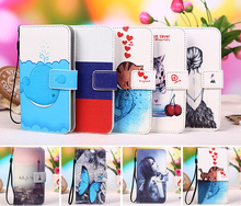 "Multi colors Cartoon Printing Flip PU Leather Phone Wallet Case For MTC Smart Sprint 4.5"" Mobile Phone case cover +Tracking"