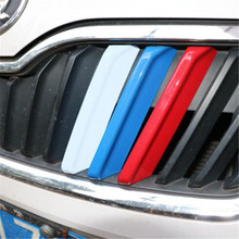 For  Rapid  accessories 3D Car Styling Front Grille Trim Sport Strips Cover Motorsport Power Sticker