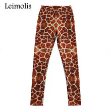 Buy Leimolis 3D printed fitness push workout leggings women gothic Giraffe plus size High Waist punk rock pants for $8.28 in AliExpress store