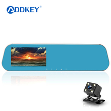 ADDKEY Newest car DVR camera rearview mirror dual lens dash cam video registrator camcorder Full HD 1080p night vision car dvrs(China)