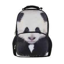 FORUDESIGNS hot sale animal school backpack for teenager panda school backpacks children kids gift felt printed horse backpacks