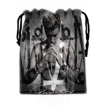 P128 Best Justin Bieber Drawstring Bags Custom Storage Printed Receive Bag Compression Type Bags Storage Bags Size 18X22cm