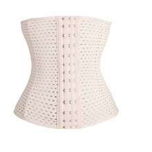 Sexy Hollow Out Breathable Waist Trainer Tummy Control Women Waist Bodycon Corsets Cincher Stretchy Slimming Body Shaper Girdle