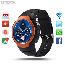 Top LEM3 3G wifi Smart Watch phone Android 5.1 OS MTK6580 Quad Core smartwatch phone Support google map Heart Rate Monitoring