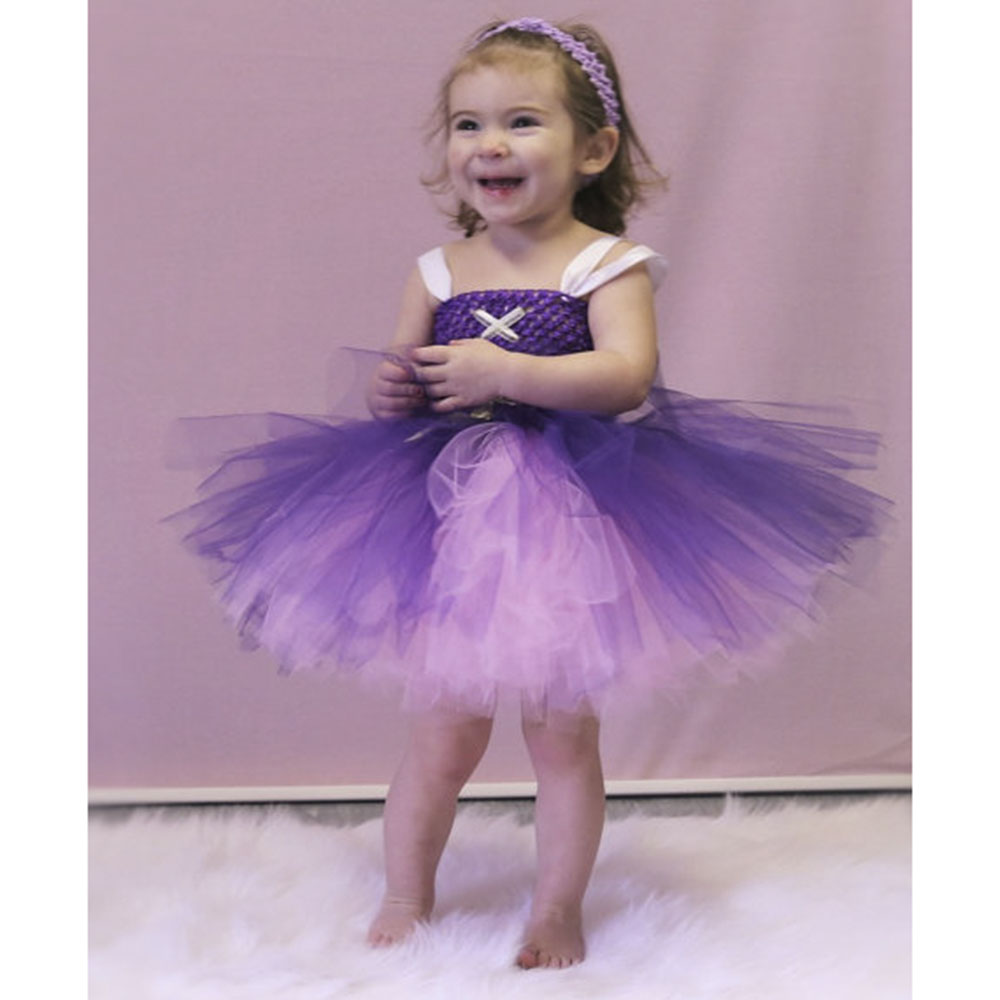 Rapunzel Girls Tutu Dress Rapunzel Costume Princess Pretty purple and pink Girls Handcrafted tutu Dress princess party<br>