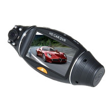 R310 tachograph GPS track dual-lens wide-angle positioning car dvr(China)