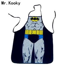 Mr.Kooky Unisex Cool Funny Kitchen Cooking Cute Delantal Batman Rude BBQ Bar Apron Night Party Dress Men Women Lovers laugh Gift(China)