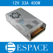 Best quality  12V 33A 400W Switching Power Supply Driver for LED Strip AC 100-240V Input to DC 12V free shipping