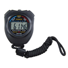 New Sports Stopwatch Professional Handheld Digital LCD Sports Stopwatch Chronograph Counter Timer with Strap(China)