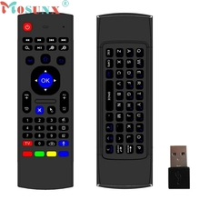 Mosunx Hot 2.4G Wireless Remote Control Keyboard Air Mouse For XBMC Android TV Box Mini PC Plug-and-play Gyro Sensing Keyboard(China)