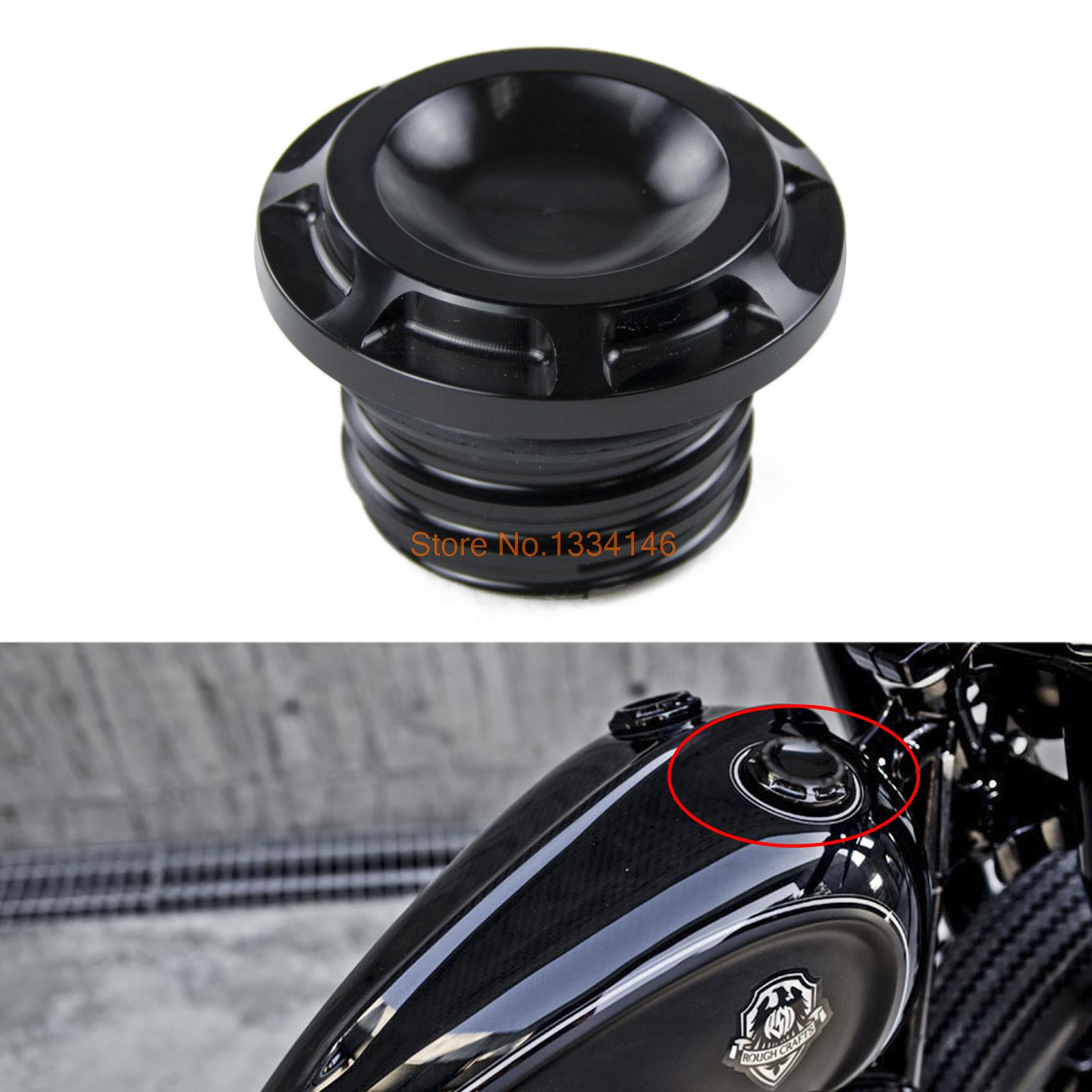 Aluminum Motorcycle Fuel Gas Oil Tank Cap Cover Guard For Harley Touring Road King FLHR Modles 1996-2015<br><br>Aliexpress