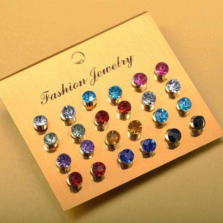 Lot de 20 Paire Coloré cristal d/'oreille De Goujon Femmes Boucles D/'Oreilles Lot Bijoux Fête Cadeau