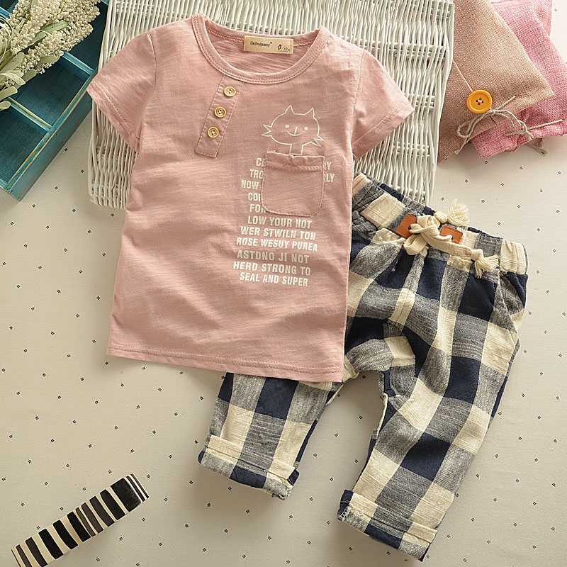 Baby Summer short-sleeved Set Cotton childrens clothing boy summer Set children Casual two - piece  infants 0-5 years old<br><br>Aliexpress