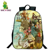 Studio Ghibli Characters Backpack Children School Bags Totoro Spirited Away Printed Laptop Backpack for Teenagers Girls Backpack(China)