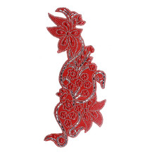 10piece Red Beads Crystal Hotfix Motif Rhinestones Applique Iron on Sticker  Patches Craft Sewing Accessories  T2340