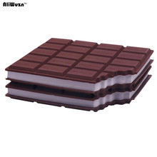 2 Pcs Simulation Of Chocolate Memo Pad 100 * 87 * 10mm 80 Sheets, 160 Pages Office School Notebooks Writing Pads Memo Pad