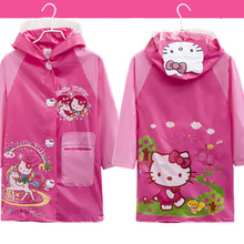 On Sale Raincoat for Baby Children Kids Girl boys Rain coat Cartoon Rainwear Waterproof Student Rainsuit Poncho Child Raincoat(China)