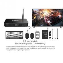 T95max Android TV BOX T95 MAX 2.4G 5G WiFi Amlogic S905x Android 6.0 Quad Core 2GB/32GB 4K 3D media player PK X96 T95N