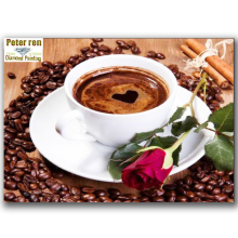 Diy Diamond painting Cross stitch Full embroidery Rose Coffee 3d square Glass mosaic icon Paintings from diamonds interior craft(China)