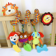 Kids Toys For Girls Boys 0-12 Months Spiral Toy On The Wind Bell Baby Crib Mobile Fisher Price Toys Rattles For Babies 705084