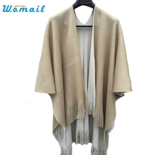 Womail Good Deal New Fashion Women Winter Knitted Cashmere Poncho Capes Shawl Cardigans Scarf Wrap Gift 1PC