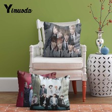 Bts 2015 Album Photoshoot Fashion Soft Conceal Zippered Twin Sides Printing Throw Pillowcase Cushion Cover(China)