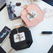 2017 The Promotion Pocket Zipper Chains New Korean Female Perfume Bottle Chain Sachet Of Small Single Shoulder Mini Bag Dinner