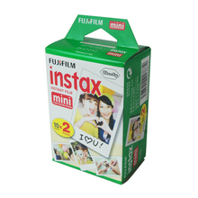 20Pcs/Box Fujifilm Instax Mini film for Instant Camera mini 8 7s 25 50s 90 White Edge 3 inch film Photo Paper