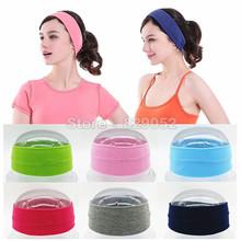 Cotton Yoga Headbands for Women Girls Makeup Men Elastic Head Bands Sport Hair Band Hairbands Headwrap Hair Accessories Outdoor