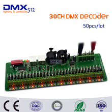 DHL Free shipping 30 channel/27 channel DMX RGB LED strip controller decoder dmx512 decoder controlador dmx dimmer 12v console