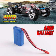 New Wltoys A959 RC Car Battery 7.4V 1100mAh Lipo Battery 4WD Off-Road Vehicle Kid Toys Spare Parts