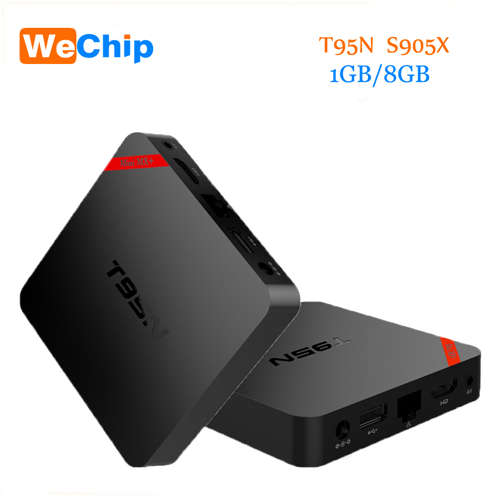 Newest T95N Mini MX PLUS Android 6.0 Smart TV Box S905X Quad Core 1G 8G A53 WIFI 2.4G KODI 16.0 H.265 4K UHD Set top ott tv box<br>