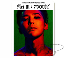 New kpop ACT III MOTTE BIGBANG GD The Same rubber mouse pad 260*210mm