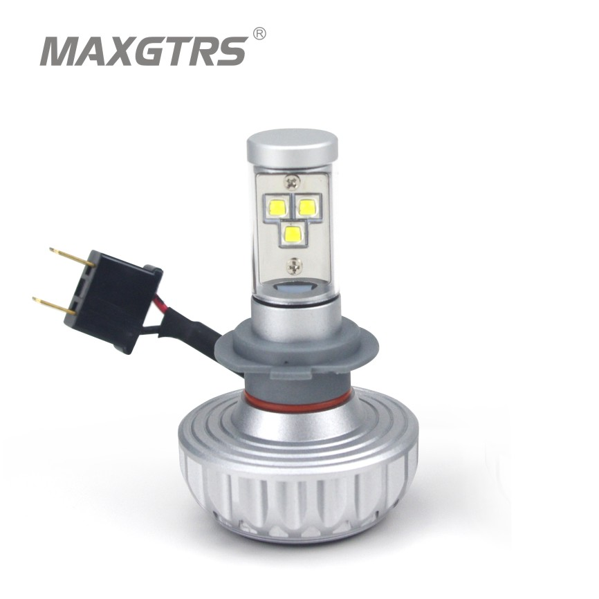 Play &amp; Plug H7 56W 6000LM Car Headlight CREE Chip Led All In One 6000K/8000K/10000K Bulb for Automotives Headlight Fog lamp DRL<br><br>Aliexpress