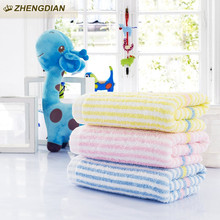 Zhengdian 100% cotton stripes sports High Quality towels Bathroom Face towel Quick Soft Thick Absorbent air permeability toalhas
