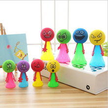 10pcs Mix color Fun Toys Jump for party favor and kid gift Bounce Elf Colorful Fly Man Children Creative Toy Gift Funny Gadgets