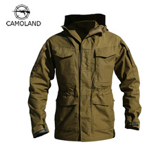 M65 Military Tactical Jacket Camouflage Jacket Men's Trench Coat Autumn Winter Windbreaker Clothes Hooded Army Field Jacket(China)