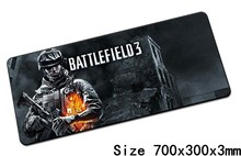 Battlefield 3 mouse pad 700x300x3mm pad mouse notbook computer padmouse best gaming mousepad gamer to keyboard mouse mats