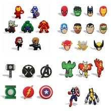 Retail 5-11pcs/lot Avengers Cartoon PVC Fridge Magnets Blackboard Whiteboard Stickers Home Decoration Kids Party Gifts(China)