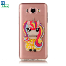 Buy Luxury Case Samsung Galaxy J5 2016 Bling Glitter Rainbow Horse TPU Transparent Cover Samsung J5 Phone Accessory Girl for $4.09 in AliExpress store