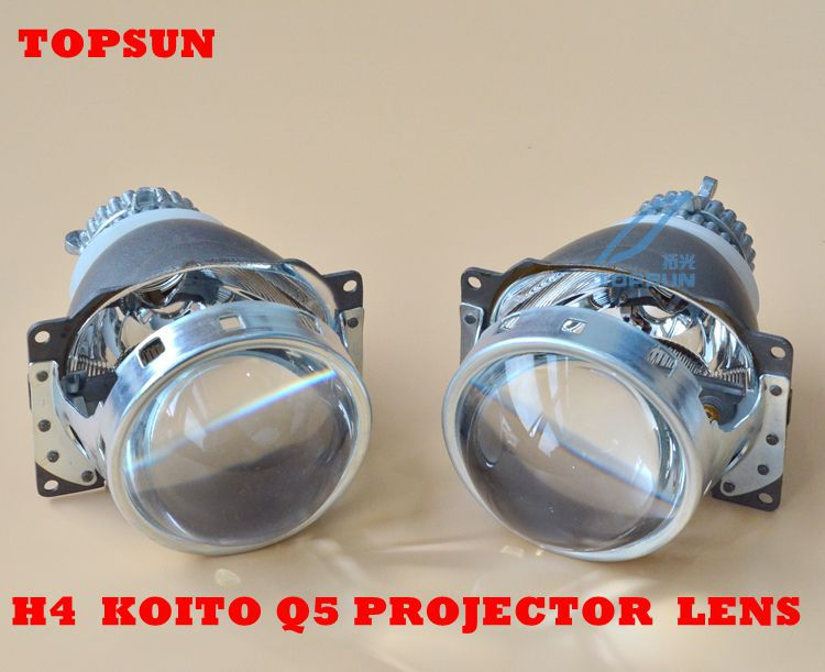 3.0 inch Kioto q5 h4 bixenon lens Style Projector Lens car Headlight With Angel Eyes Halo ring &amp; Shrouds fit for D2h xenon bulbs<br><br>Aliexpress