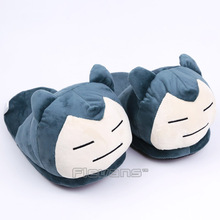 Anime Cartoon Mudkip Flareon Snorlax Adult Plush Slippers Home Winter Slippers Plush Toys(China)