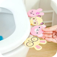 Cute Cartoon Bath Products Toilet Cover Lifting Device Toilet Lid Portable Handle Toilet Seat Clamshell.House Accessories