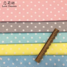 100% cotton twill cloth small stars fabric for DIY kids bedding sheet cushion patchwork homework crafts handwork quilting sewing