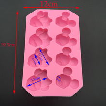 Free Shipping Mickey Minnie Mouse Cartoon Silicone Chocolate Press Soap Mold Silicone Mold Refrigerator Ice