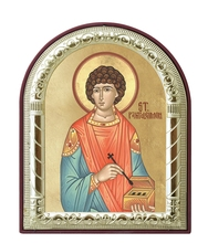 can custom 2016 Clean images handmade christian religious catholic image saint Panteleimon greek icon of metal frame pendant(China)