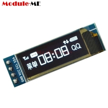 "0.91 inch 128x32 128 32 I2C IIC Interface Serial White OLED LCD Display Module 0.91"" 12832 SSD1306 LCD Screen for Arduino DIY(China)"