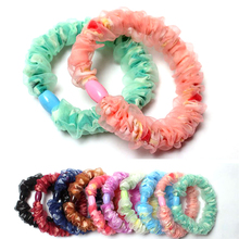 Wholesale New Arrival 10pcs/lot Girl Elastic Hair Ties Band Rope Ponytail Holder Hair Accessory High Quality