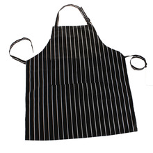 Black Stripe Adult Apron Minimalist Kitchen Restaurant Bar Chef Cook Waiter Polyester Bib Cook Cleaning Avental Delantal Tools